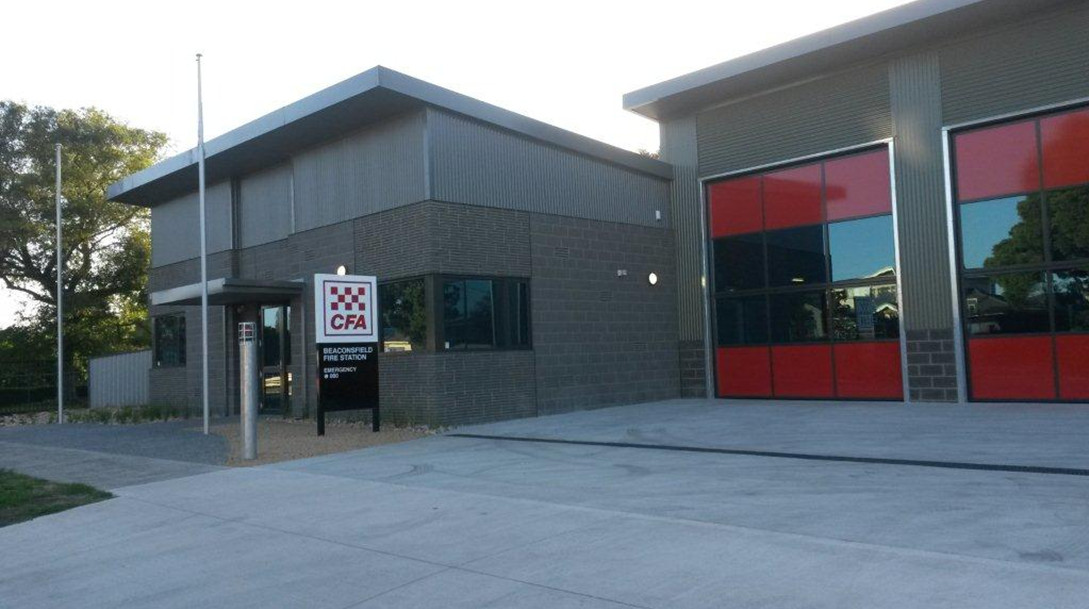 The new Beaconsfield fire station