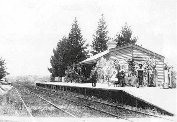 Railway station about 1910