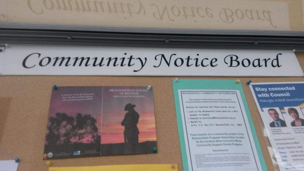 community-notice-board